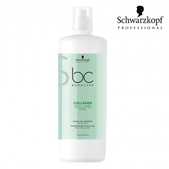Schwarzkopf Pro BC Collagen Volume Boost micelārais šampūns 1L