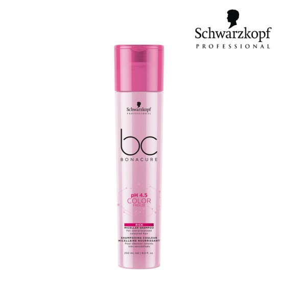 Schwarzkopf Pro BC pH 4.5 Color Freeze bagātinošs micelārais šampūns 250ml