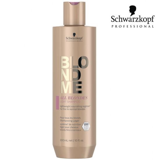 Schwarzkopf Pro BlondMe All Blondes Light viegli kopjošs šampūns blondiem matiem 300ml