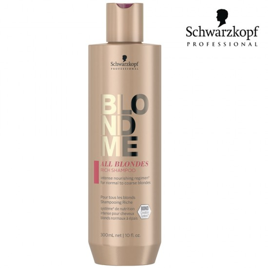 Schwarzkopf Pro BlondMe All Blondes Rich šampūns blondiem matiem 300ml