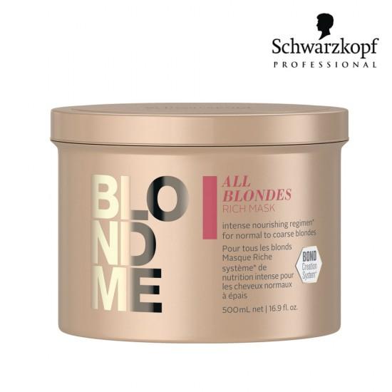 Schwarzkopf Pro BlondMe All Blondes Rich maska blondiem matiem 500ml
