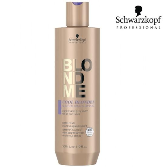 Schwarzkopf Pro BlondMe Cool Blondes neitralizējošs šampūns vēsi blondiem matiem 300ml