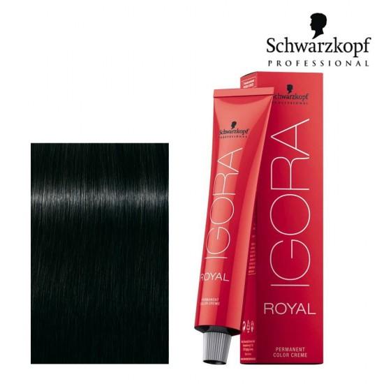 Schwarzkopf Pro Igora Royal 1-0 melns dabiskais tonis 60ml