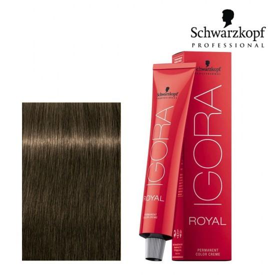 Schwarzkopf Pro Igora Royal 6-63 tumši blonds matētas šokolādes tonis 60ml