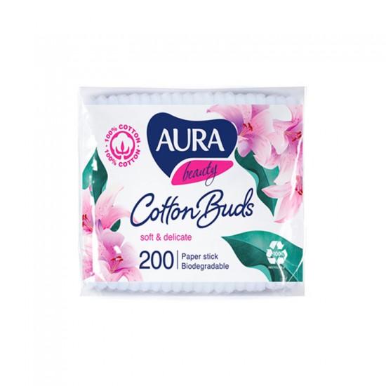 Aura Beauty vates kociņi ar papīra kātiņu maisiņā 200gab.