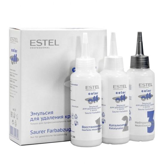 Estel Color Off emulsija noturīgu krāsu noņemšanai no matiem 3x120ml