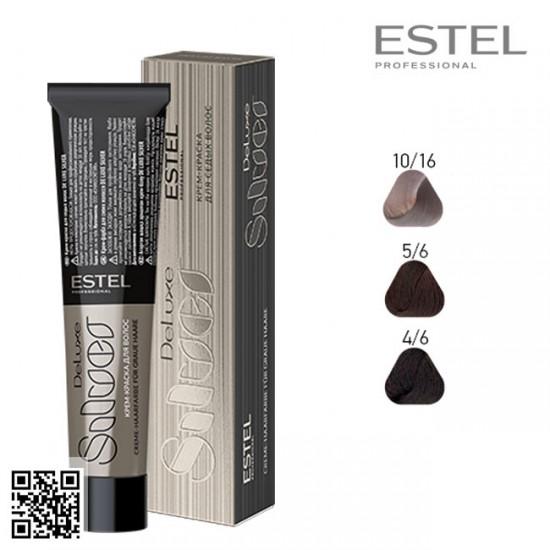 Estel DeLuxe Silver 5/6 krāsa-kopšana matiem 60ml