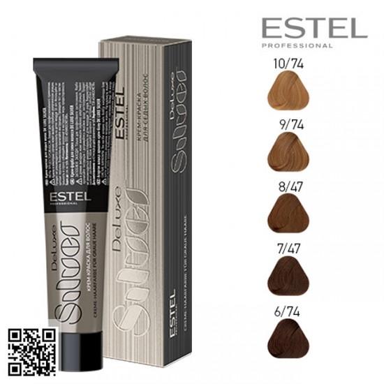 Estel DeLuxe Silver 8/74 krāsa-kopšana matiem 60ml