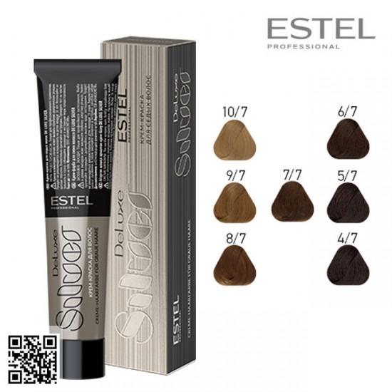 Estel DeLuxe Silver 7/7 krāsa-kopšana matiem 60ml