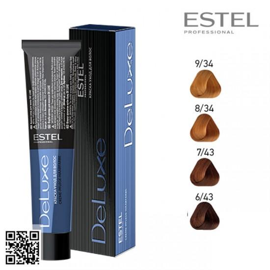Estel DeLuxe 6/43 krāsa-kopšana matiem 60ml