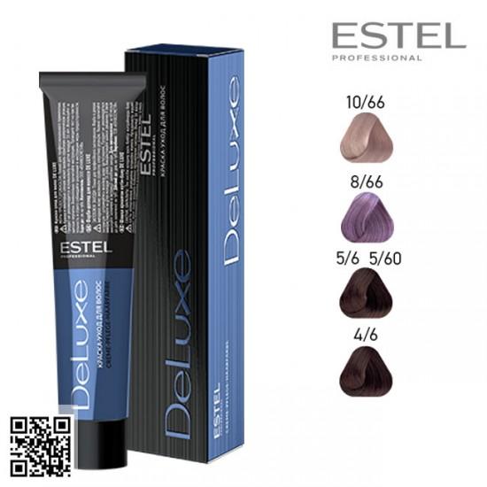 Estel DeLuxe 4/6 krāsa-kopšana matiem 60ml