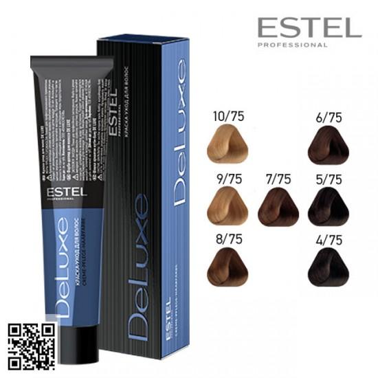 Estel DeLuxe 4/75 krāsa-kopšana matiem 60ml