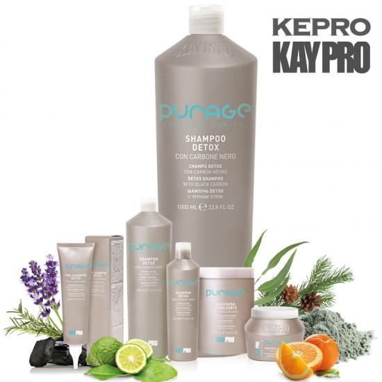 Kepro Kaypro Purage Detox šampūns ar melno ogli 1L