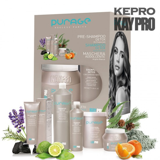 Kepro Kaypro Purage komplekts krēms/šampūns/maska 150/350/500ml
