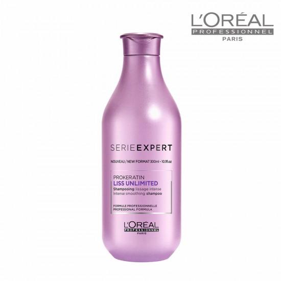 Loreal Serie Expert Liss Unlimited matu nogludinošs šampūns 300ml