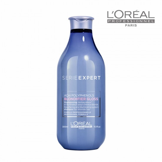Loreal Serie Expert Blondifier Gloss šampūns blondiem matiem 300ml