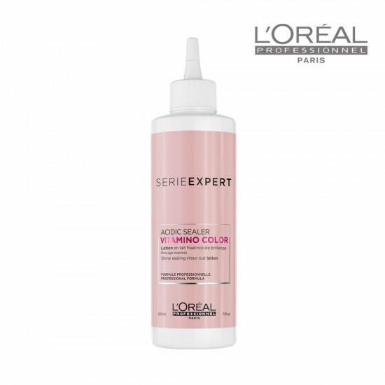 Loreal Serie Expert Vitamino Color Acidic Sealer līdzeklis matu spīdumam 210ml