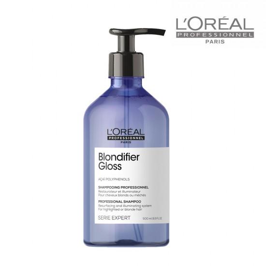 Loreal Serie Expert Blondifier Gloss šampūns blondiem matiem 500ml
