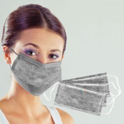 Medicīniskā 3-slāņu maska ar oglekļa filtru 50gab.