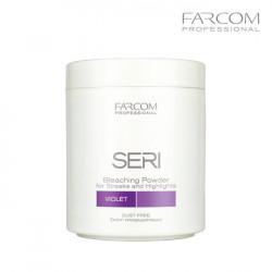 Farcom Seri balinošs pūlveris dabīgiem matiem violēts 500g