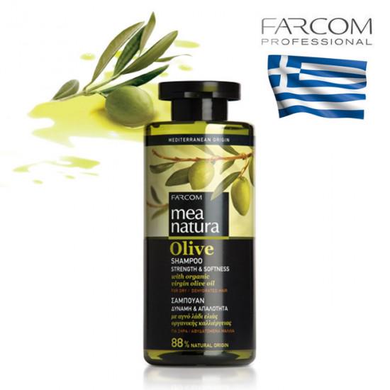 Farcom Mea Natura Olive Strength & Softness šampūns sausiem matiem 300ml