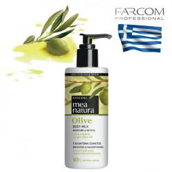 Farcom Mea Natura Olive Moisture & Revival pieniņš ķermenim 250ml