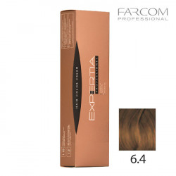 Farcom Expertia permanenta matu krēmkrāsa 100ml 6.4-DA Dark copper blonde