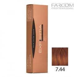 Farcom Expertia permanenta matu krēmkrāsa 100ml 7.44-IN Intense copper blonde