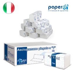 Бумажные полотенца салфетки Paperdi V сложение 2 слоя 21x21.5см 210 листов