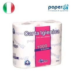 Tualetes papīrs Paperdi 2 kārtas 9.6x12cm 1000 loksnes 4 ruļļi