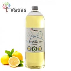 Verana Lemon Citrons ķermeņa masāžas eļļa 1L