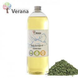 Verana Green Tea Zaļā tēja masāžas eļļa ķermenim 1L