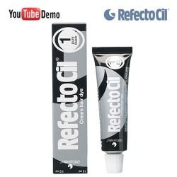 RefectoCil 1 Pure Black melna krāsa skropstām-uzacīm 15ml