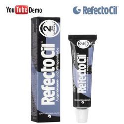 RefectoCil 2 Blue Black zili melna krāsa skropstām-uzacīm 15ml