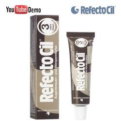 RefectoCil 3 Natural Brown brūna krāsa skropstām-uzacīm 15ml