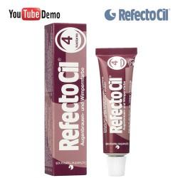 RefectoCil 4 Chestnut kastāņu krāsa skropstām-uzacīm 15ml
