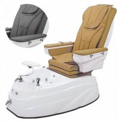 Pedikīra krēsls Beautyfor ar masāžu 4123B pelēks