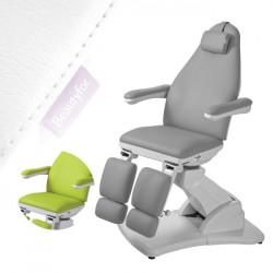 Pedikīra krēsls 2245A ar 3 motoriem balts