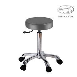 Silver Fox plakans apaļš meistara krēsls 1023A pelēks