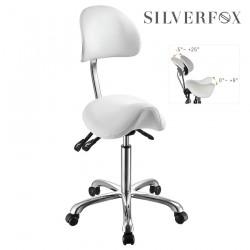 Silver Fox seglu formas meistera krēsls ar izliektu atzveltni 1025A balts