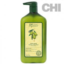 CHI Olive Organics Hair and Body šampūns 710ml