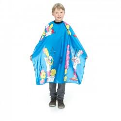 Bērnu frizieru apmetnis matu griešanai ar krāsaino dizainu
