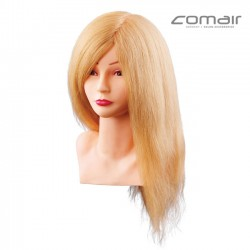 Manekena galva frizieriem - blonda mati 40cm