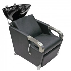 Melnā keramiskā izlietne frizētavai ar krēslu 583-1