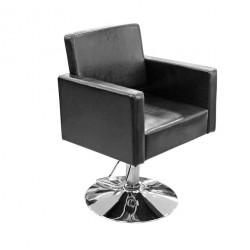 Hidraulisks klienta krēsls frizētavai Y195 spīdīgs melns