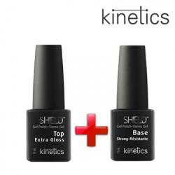 Kinetics Extra Gloss Top 11ml+Kinetics Bāze Shield Strong 11ml