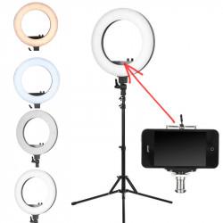 Make-up LED lampa priekš foto ar statīvu (melna)