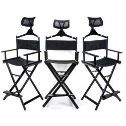 Grima krēsls KC-CH03,  ar galvas balstu, melns