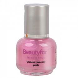 Beautyfor kutikulas noņēmējs 15ml (rozā krāsā)