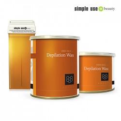 Simple Use натуральный медовый депиляционный воск 800ml